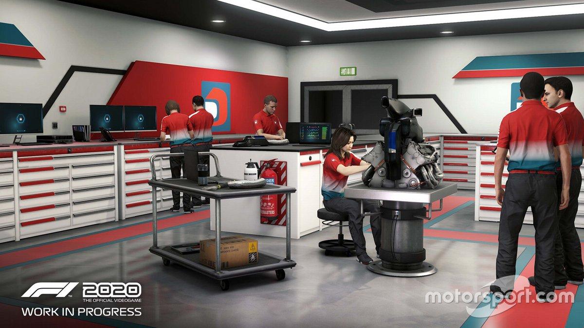 Capture d'écran du mode My Team dans F1 2020