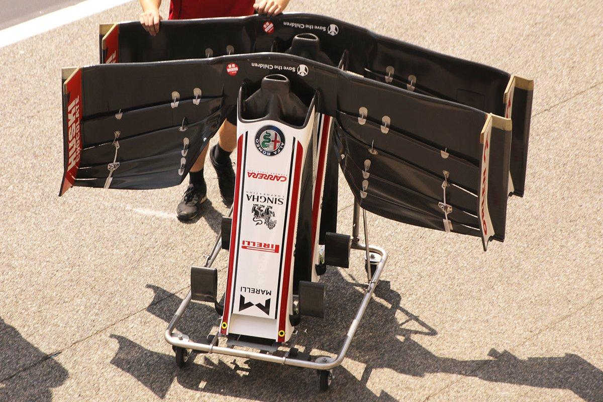 Detalle de alerón delantero del Alfa Romeo Racing C39