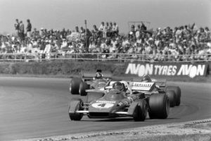 Jacky Ickx, Ferrari 312B2, Ronnie Peterson, March 711 Ford, Emerson Fittipaldi, Lotus 72D Ford