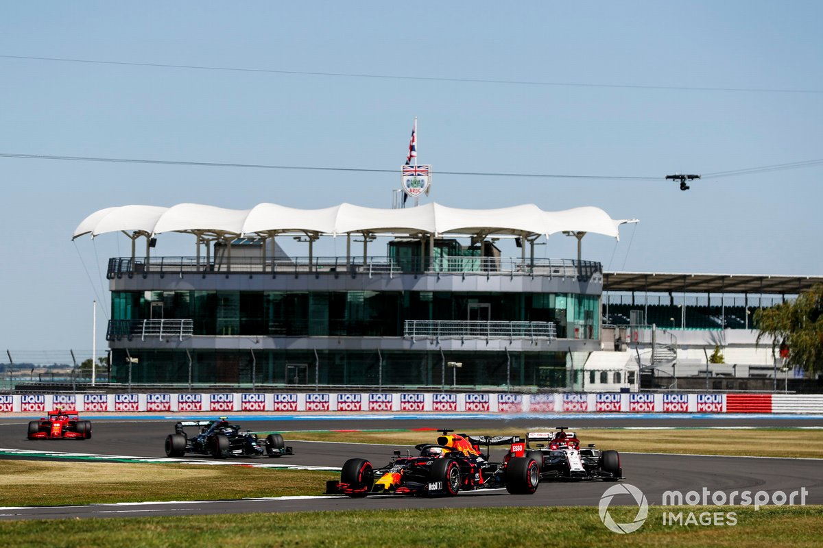 Max Verstappen, Red Bull Racing RB16, Kimi Raikkonen, Alfa Romeo Racing C39, Valtteri Bottas, Mercedes F1 W11, Charles Leclerc, Ferrari SF1000