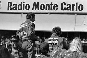 1. Niki Lauda, Ferrari, 3. Jochen Mass, McLaren