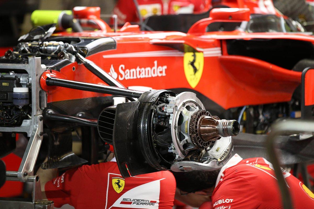 Dettaglio freno anteriore Ferrari SF70H