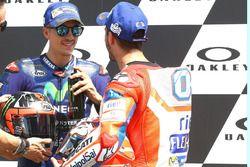 Polesitter Maverick Viñales, Yamaha Factory Racing; 3. Andrea Dovizioso, Ducati Team