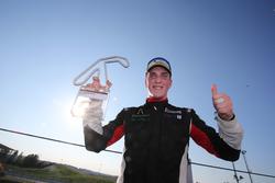 Il vincitore di Gara 1 Riccardo Pera, Ebimotors sul podio