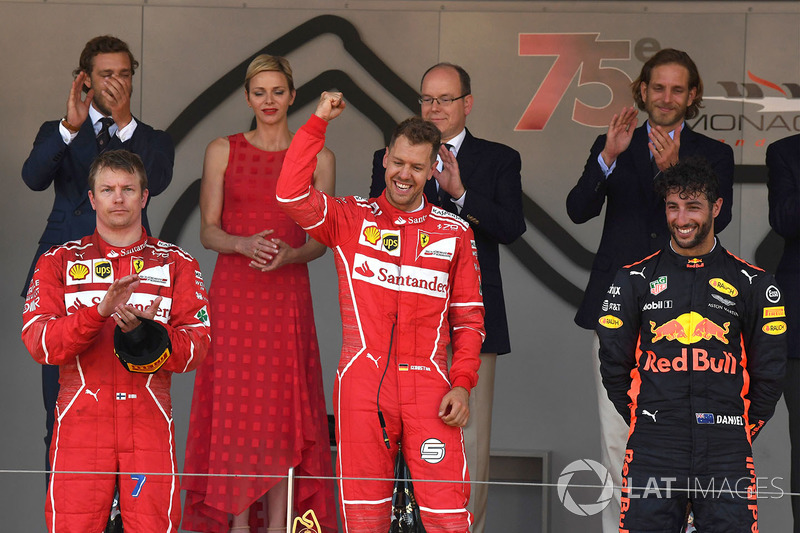 2017: 1. Sebastian Vettel, 2. Kimi Räikkönen, 3. Daniel Ricciardo
