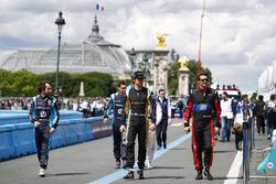 Nicolas Prost, Renault e.Dams; Sébastien Buemi, Renault e.Dams; Esteban Gutierrez, Techeetah; Tom Di