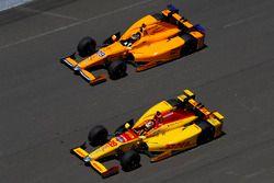 Fernando Alonso, Andretti Autosport, Honda; Ryan Hunter-Reay, Andretti Autosport, Honda