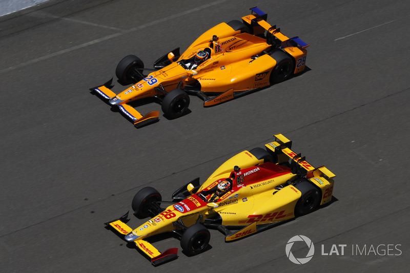 Fernando Alonso, Andretti Autosport Honda, Ryan Hunter-Reay, Andretti Autosport Honda