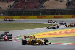 Norman Nato, Pertamina Arden leading Sergio Sette Camara, MP Motorsport