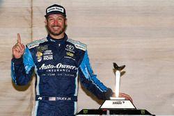 Martin Truex Jr., Furniture Row Racing Toyota celebrates in victory lane
