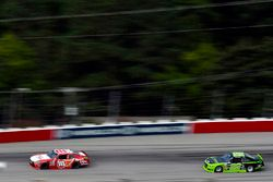 Denny Hamlin, Joe Gibbs Racing Toyota and Joey Logano, Team Penske Ford