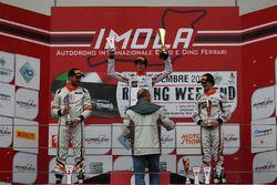 Podio Gara 2: il vincitore della gara Nicolò Liana, Seat Motor Sport Italia, il secondo classificato Giovanni Altoè, Seat Motor Sport Italia, il terzo classificato Guido Sciaguato, Seat Motor Sport Italia,