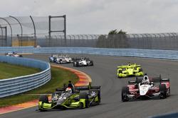 Charlie Kimball, Chip Ganassi Racing Honda, Graham Rahal, Rahal Letterman Lanigan Racing Honda