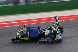 Chute de Xavi Vierge, Tech 3 Racing