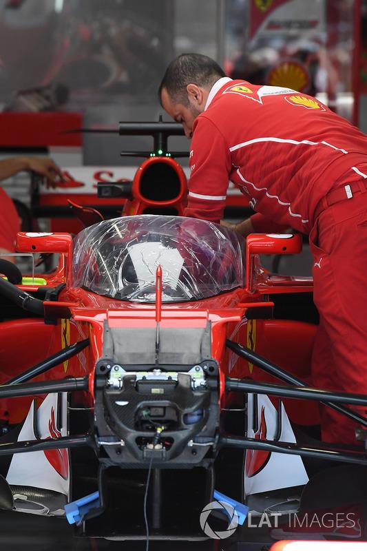 """Ferrari SF70H """"Kalkan"""" kokpit koruma sistemiyle"""