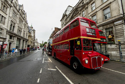 A view of Whitehall road with a London bus