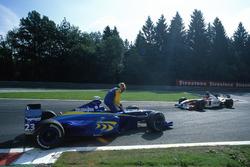 Рикардо Зонта, BAR 01-Supertec, и Жак Вильнев, BAR 01-Supertec