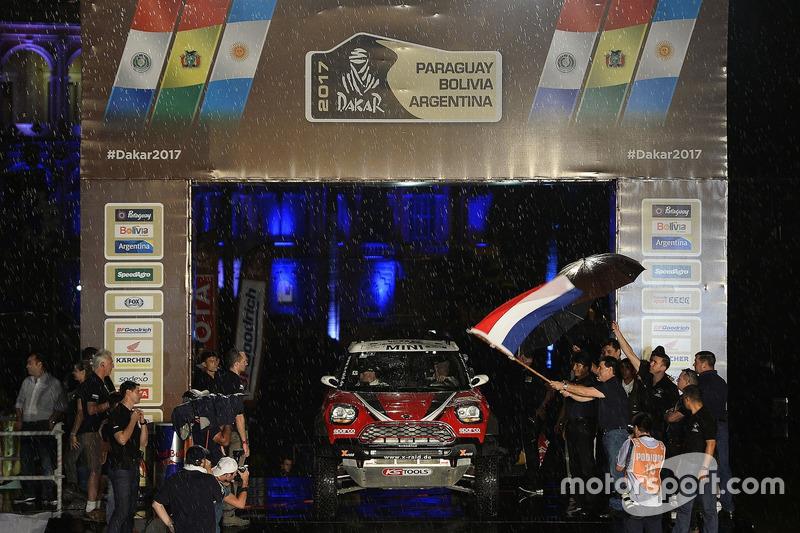 #303 X-Raid Team, Mini: Mikko Hirvonen, Michel Périn