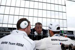 Tom Blomqvist, BMW Team RBM, BMW M4 DTM with Bart Mampaey, Team principal BMW Team RBM