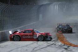 #99 Gainsco/Bob Stallings Racing Porsche 911 GT3 R: Jon Fogarty, #93 RealTime Racing Acura NSX GT3: