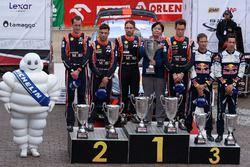Podyum: Yarış galibi Thierry Neuville, Nicolas Gilsoul, Hyundai Motorsport, 2. Hayden Paddon, Sebast