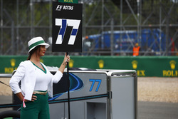 Grid girl for Valtteri Bottas, Mercedes AMG F1