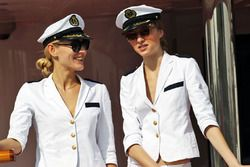 Female crew on a boat