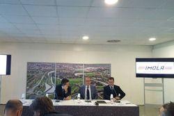 Daniele Manca, sindaco di Imola, Stefano Domenicali, CEO Lamborghini, Pier Giovanni Ricci Direttore
