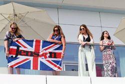 Jenson Button, McLaren flag and fans