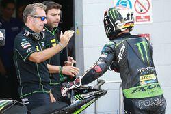 Hervé Poncharal, Tech-3-Teamchef; Jonas Folger, Monster Yamaha Tech 3
