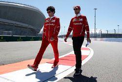 Sebastian Vettel, Ferrari lors de la reconnaissance de piste