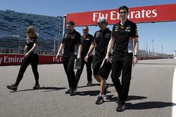 Sergio Perez, Sahara Force India F1 walks the track