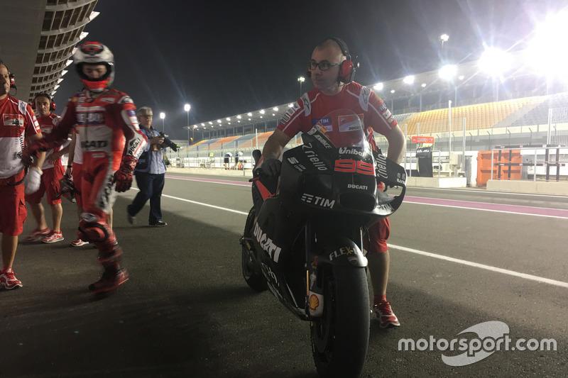 Jorge Lorenzo, de Ducati, con el nuevo carenado