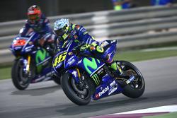 Valentino Rossi, Yamaha Factory Racing; Maverick Viñales, Yamaha Factory Racing