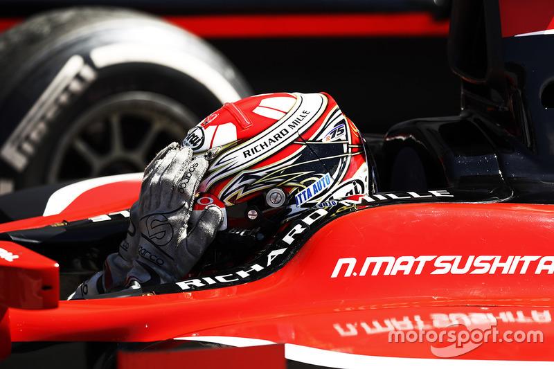Ganador de la carrera Nobuharu Matsushita, ART Grand Prix