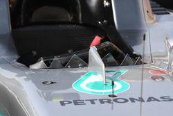 Mercedes-Benz F1 W08 Hybrid scherm detail