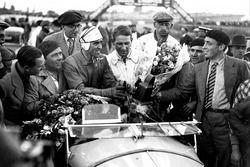 Winnaars Tazio Nuvolari, Raymond Sommer, Alfa Romeo 8C