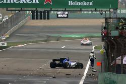 Le crash d'Antonio Giovinazzi, Sauber C36 Ferrari
