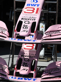 Force India VJM10 nose and front wings
