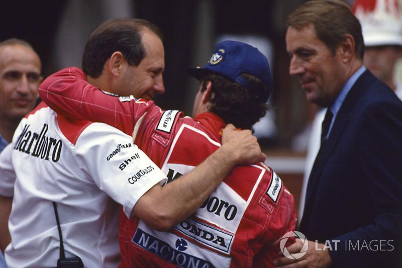 Winner Ayrton Senna, McLaren, Ron Dennis, Mclaren