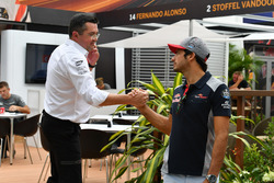 Eric Boullier, McLaren Racing Director and Carlos Sainz Jr., Scuderia Toro Rosso