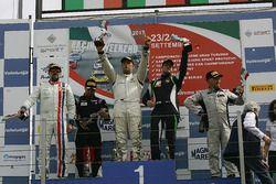 Podio GTCup gara 2, Pisani-Palazzo (Siliprandi,Porsche 997 Cup My 12-GTCup #176), Francesco La Mazza
