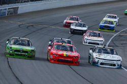 Darrell Wallace Jr., Biagi-DenBeste Racing Ford, Justin Allgaier, JR Motorsports Chevrolet, and Blak