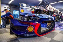 Détail de la Hyundai i20 Coupe WRC, Hyundai Motorsport