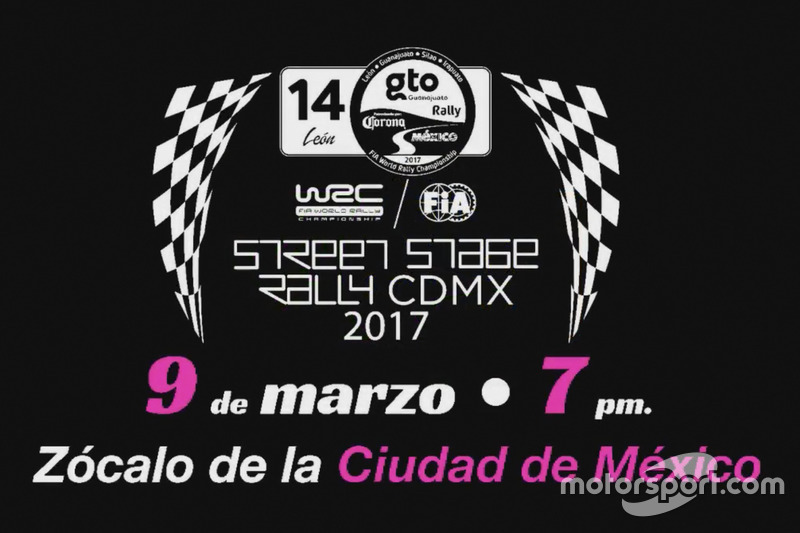 Anuncio de la etapa del WRC en la CDMX