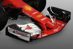 Ferrari SF70H, l'ala anteriore