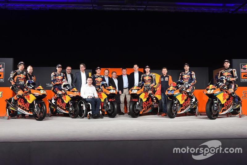 Pilotos da KTM para a temporada 2017 do Mundial de Motovelocidade