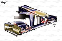 Toro Rosso STR6 nose and front wing