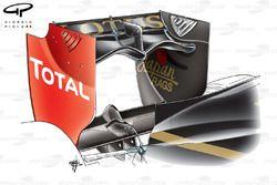Lotus Renault R31 rear wing, Canadian GP