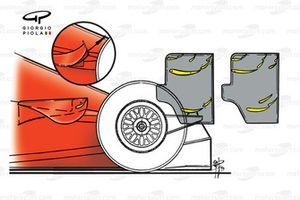 Diferencias de alerones traseros para la Ferrari F399